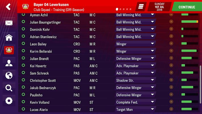 Football Manager 2019 Mobile bundesliga