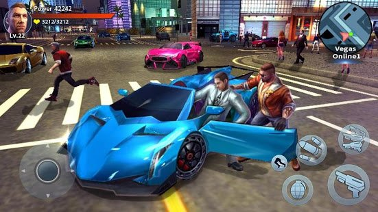 Auto Theft Gangsters APK+Data v1.18 [Mod Money/Skill No Cooldown] Download