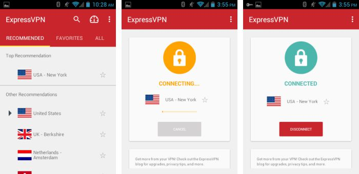 ExpressVPN Android features