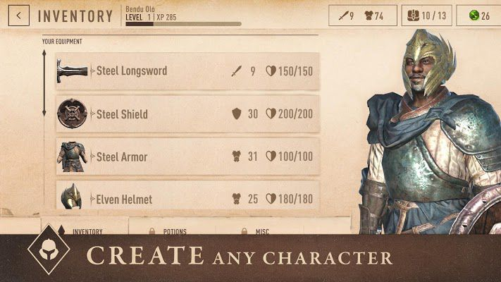 The Elder Scrolls Blades characters