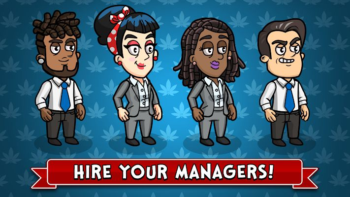 Weed Inc Idle Tycoon hire managers