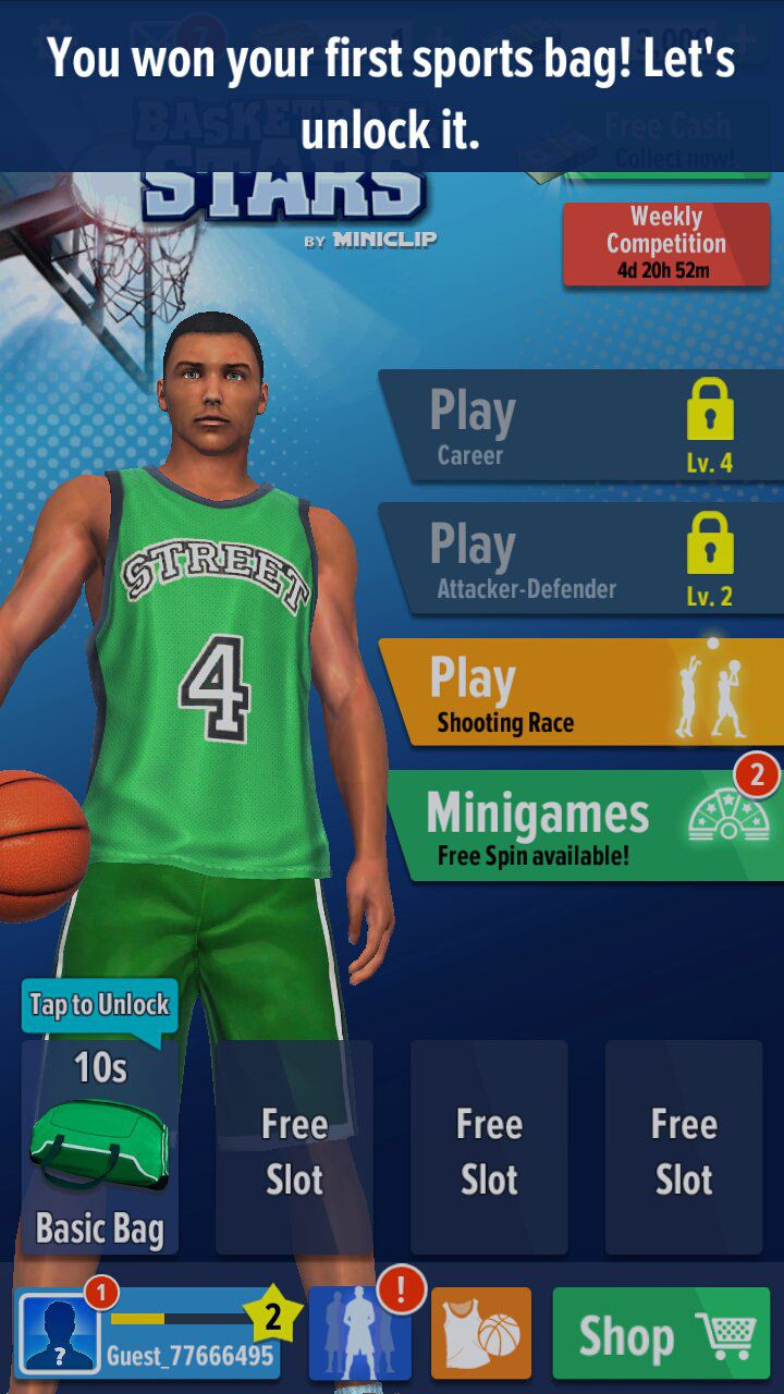Basketball Stars customize your players