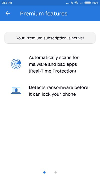 Malwarebytes Security premium features