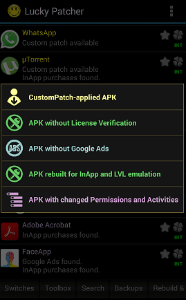 Apk rebuilt for InApp and LVL emulation lucky patcher