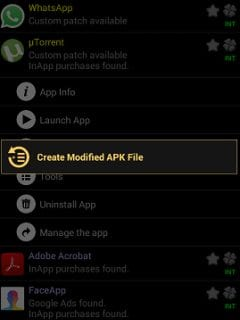 Create Modified Apk file lucky patcher