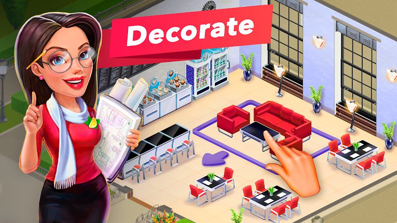 Decorating your cafe shop in My cafe Game