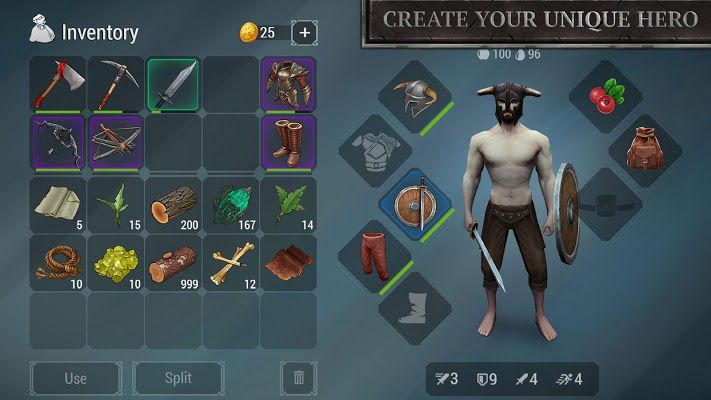 Frostborn mod apk create your character