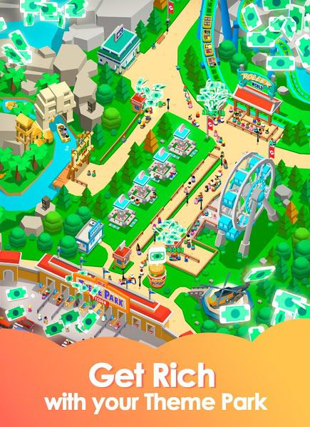 Idle Theme Park Tycoon manager