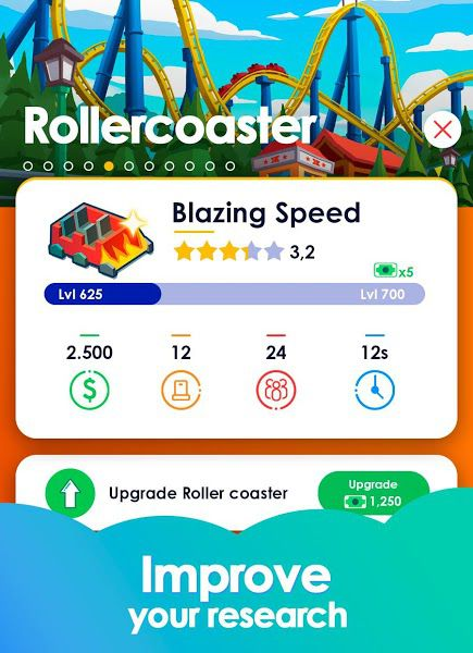 Idle Theme Park Tycoon mod apk features