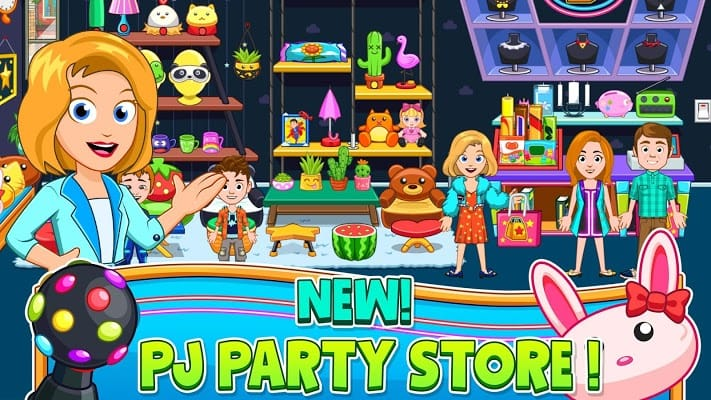 My City - Pajama Party APK features