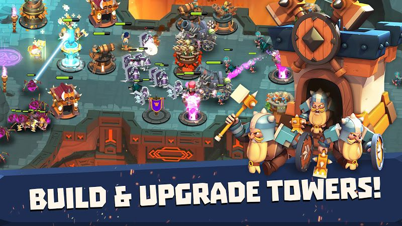 Castle Creeps TD upgrade towers