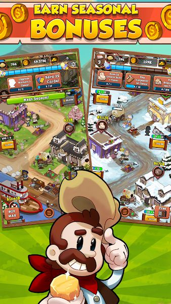 IDLE FRONTIER TAP TAP TOWN TYCOON bonuses
