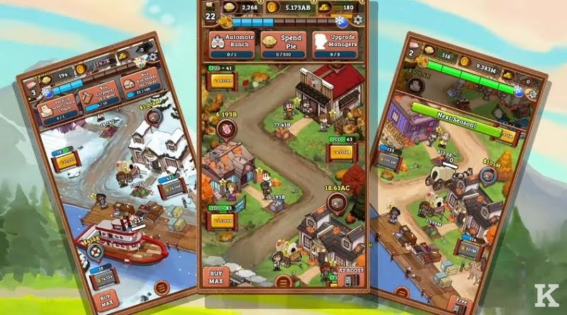 IDLE FRONTIER TAP TAP TOWN TYCOON features