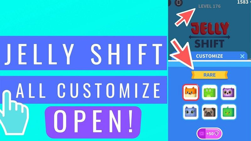 Jelly Shift MOD APK unlocked all customize