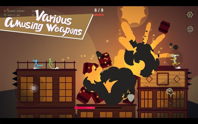 Stick Fight The Game Mobile mod apk unlocked weapons