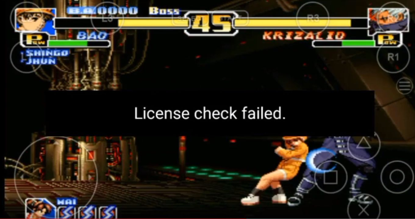 license check failed