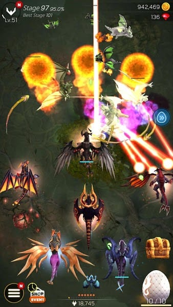 DragonSky - Idle & Merge mod apk gameplay