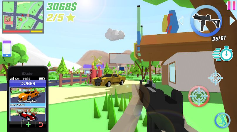 Dude Theft Wars MOD APK unlocked guns