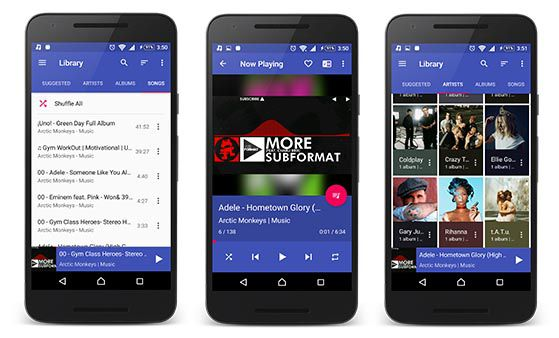 Shuttle Plus Music Player other features