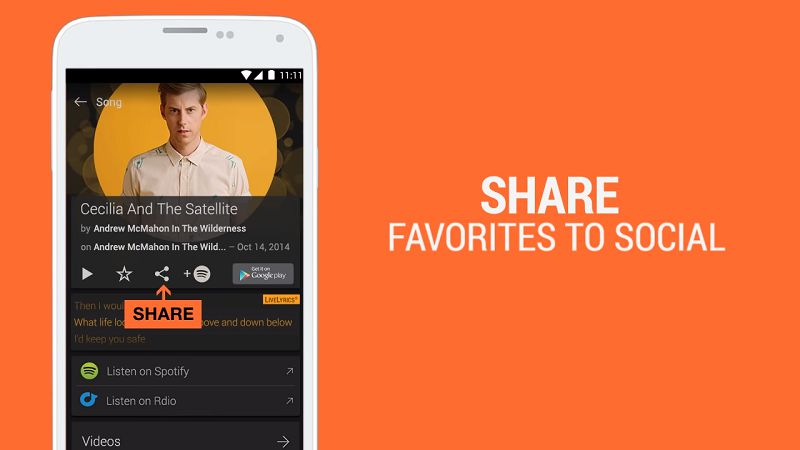 SoundHound share feature