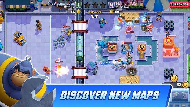 Rush Wars discover new maps