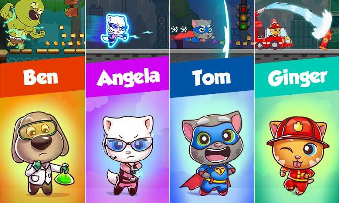 Talking Tom Candy Run Characters