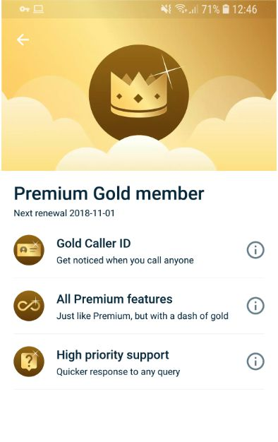 Premium Gold Member features