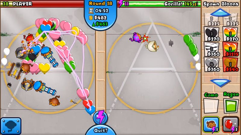 Bloons TD Battles gameplay