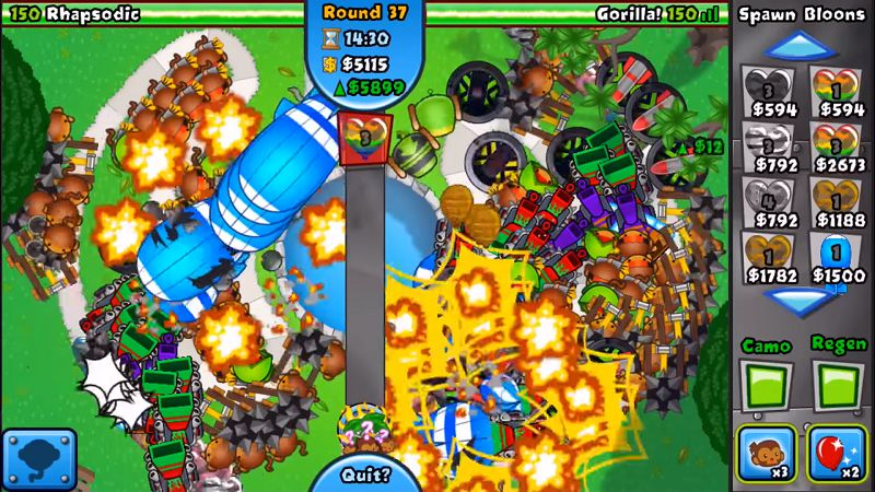 Bloons TD Battles tounaments