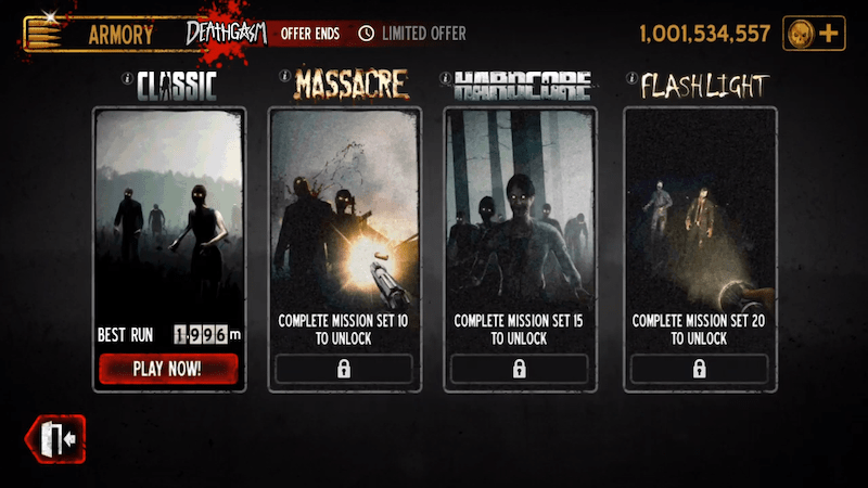 Into The Dead all game modes