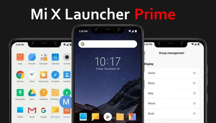Mi X Launcher prime for Android