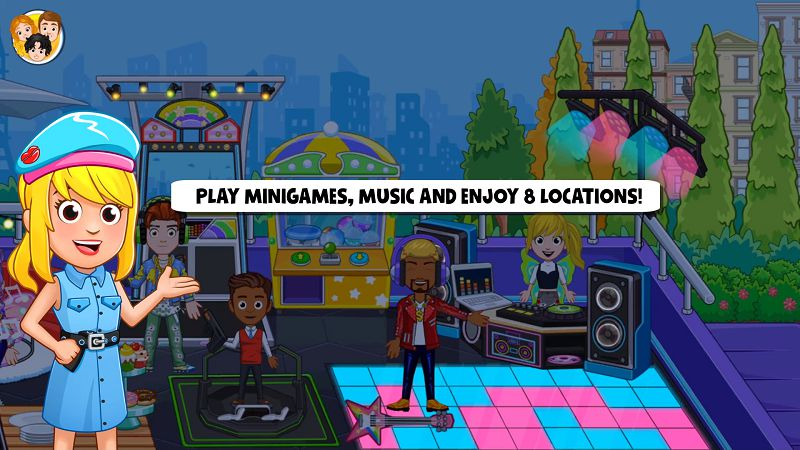 My City _ PopStar play mini-game