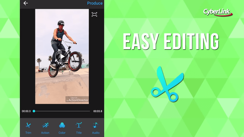 ActionDirector PRO easy editing