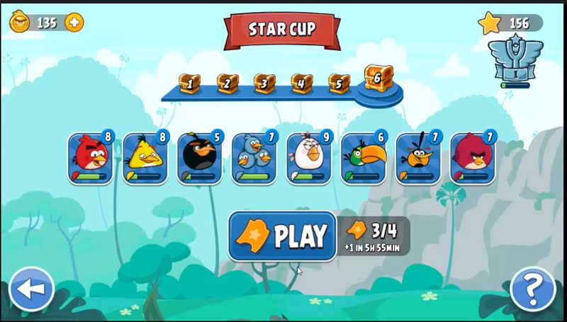 Angry Birds Friends star cup
