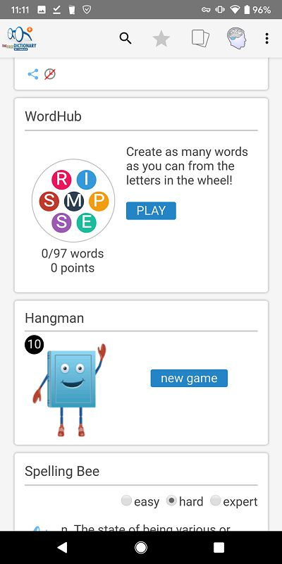 Dictionary Pro game
