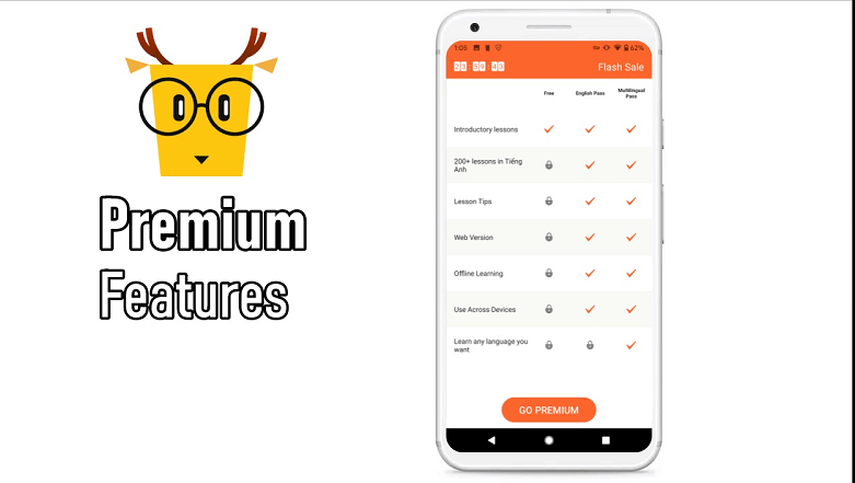 Lingodeer Premium features
