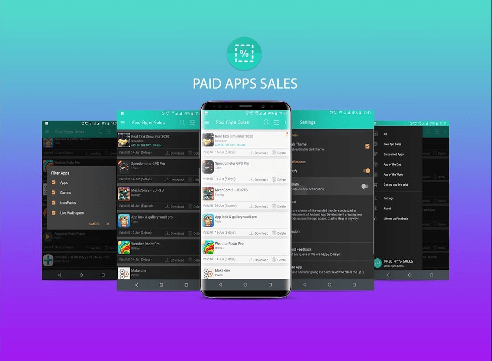 Paid Apps Sales Pro Android app