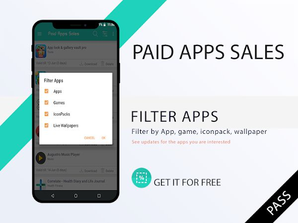 Paid Apps Sales Pro filter