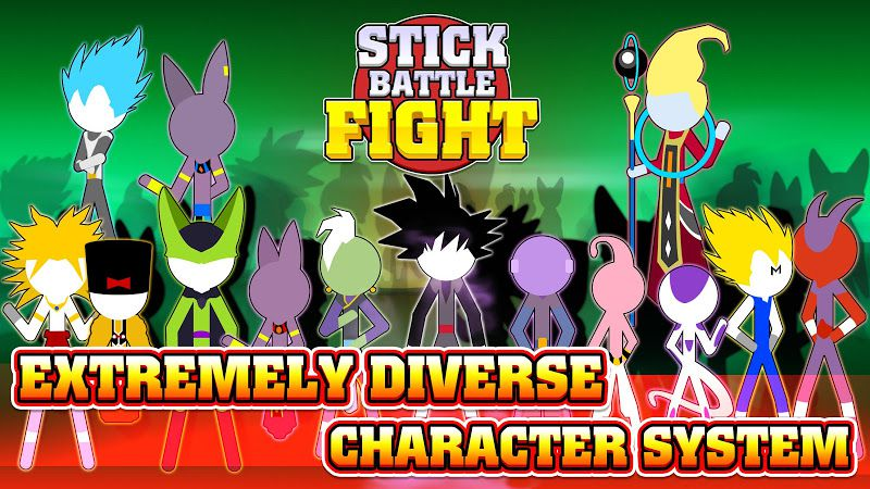 Stick Battle Fight characters