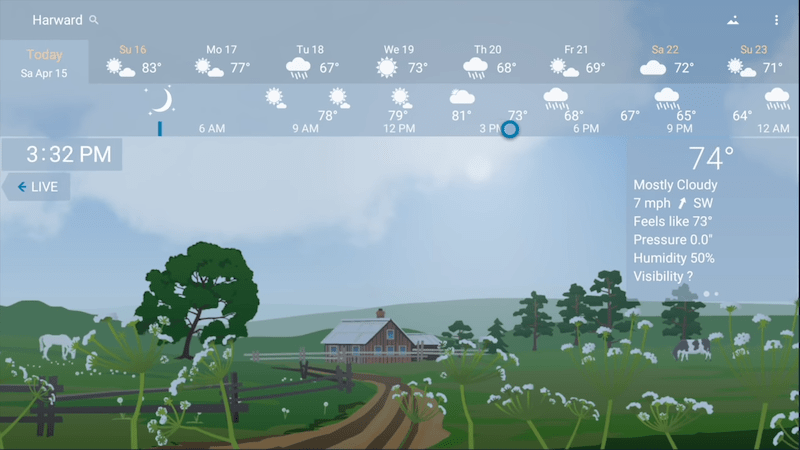 YoWindow Weather app