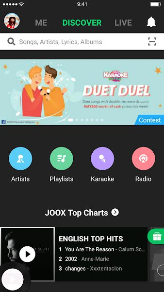 JOOX Music karaoke feature