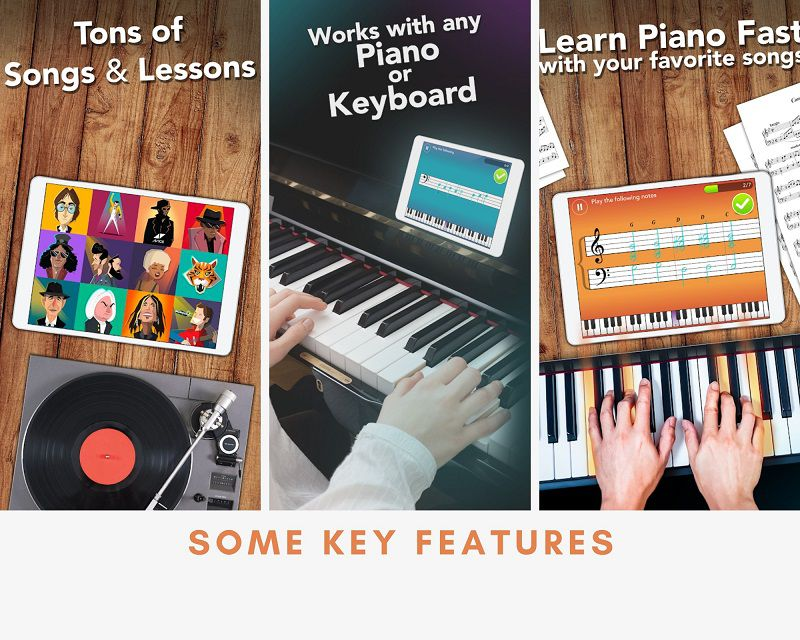 Simply Piano key features
