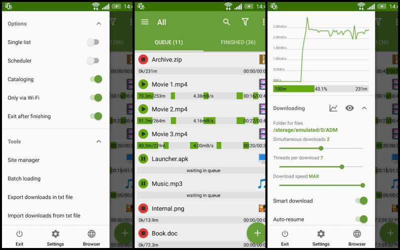 Advanced Download Manager Pro key features