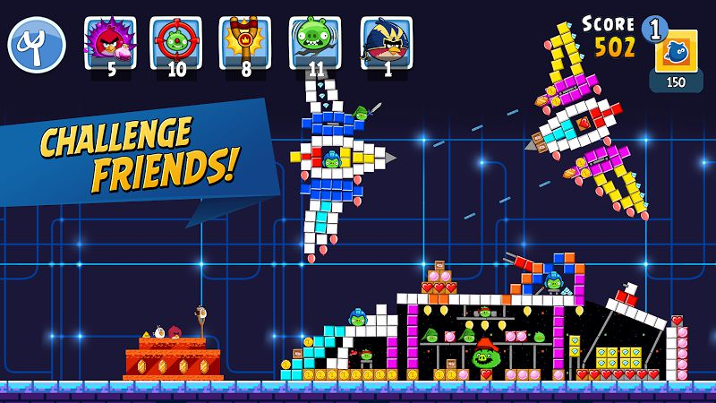 Angry Birds Friends challenge friends