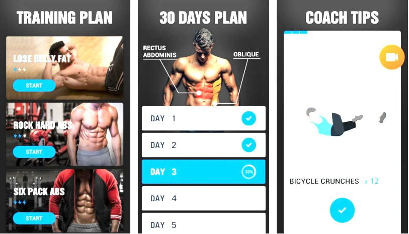 Six Pack in 30 Days - Abs Workout Key features