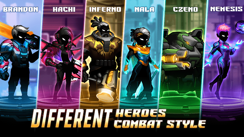 Cyber Fighters- Stickman Cyberpunk-heroes